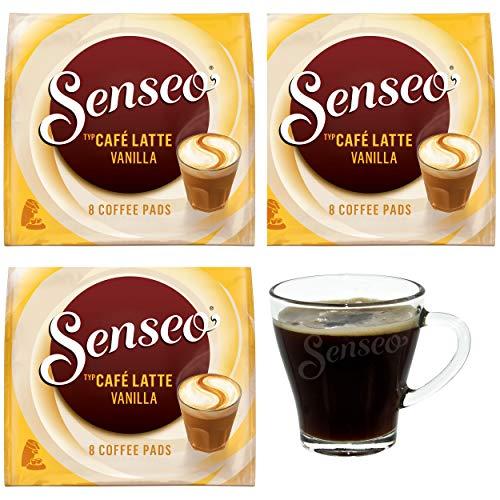 Senseo Café Latte Vanilla - Juego de 3 monodosis de café con Leche (Vainilla, 8 cápsulas Cada una)