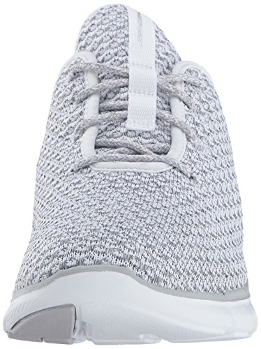 Skechers Flex Appeal 2.0 Bold Move Damen Textile Turnschuhe White/Grey