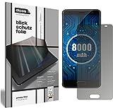 dipos I Blickschutzfolie matt passend für Oukitel K8000 Sichtschutz-Folie Bildschirm-Schutzfolie Privacy-Filter