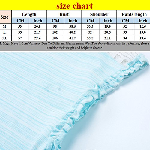Zhhlaixing Comfortable Womens Home Casual Nightwear Set Adult Pure Colour Pajamas Pale Blue