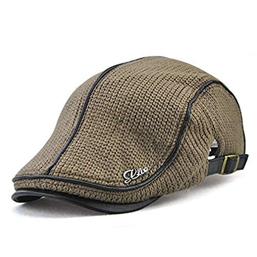 LAOWWO Baschi Scozzesi Berretto Uomo Vintage Cappello a Maglia Regolabile Berretto  Piatto a7c5be89df0c