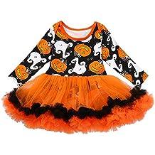 K-youth Vestido Bebe Niña Invierno Lindo Halloween Tutu Vestido de Princesa Manga  Larga para 287d90252309