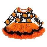 Neugeborenes Baby Jungen Mädchen 3 Stücke Kürbis Strampler Kleidung Gestreift Hosen Set mit Stirnband und Hut Halloween Karneval Party Kleid von Innerternet