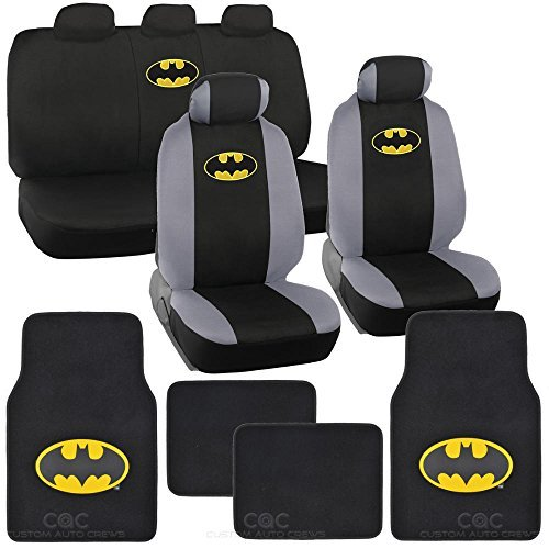 batman-seat-cover-floor-mat-for-car-warner-brothers-auto-accessories-original-series-officially-lice