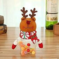 1PCS Nuevo Navidad ftalatos Cristal pequeñas redondas paño muñeca Praline Cajas Caramelo Navidad Fiesta Decoración
