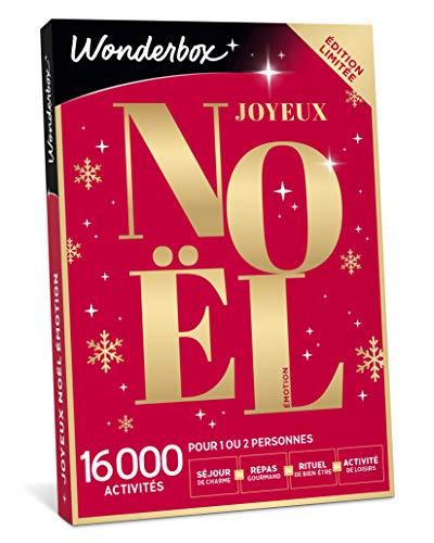 Wonderbox - Coffret cadeau noël - JOYEUX NOEL Emotion - 8820 séjours, repas, soins...