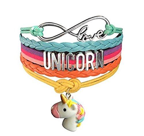 n Armband Cute Unicorn Armband Handmade Regenbogen Schmuck Liebe Charme Geschenke für Frauen und Mädchen Kinder und Erwachsene (Einhorn Teen Kostüme)