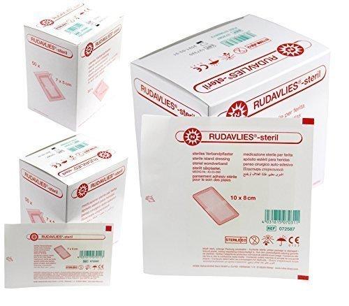 Rudavlies steril Pflaster -Set von Nobamed (100 Stück 7 x 5 cm + 50 Stück 10 x 8 cm)