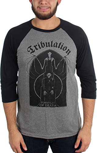 Tribulation -  T-shirt - Uomo Black/Athletic Heather Small