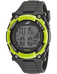 Sonata Fibre (SF) Digital Grey Dial Men's Watch-77081PP03