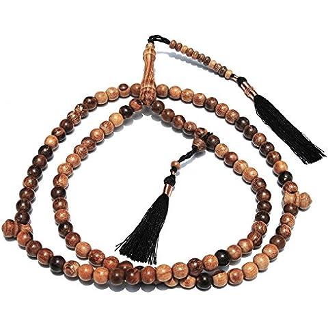 Grande 9mm Oud Aloe Tasbih cuentas de oración–Dhikr Prayer Beads con suave Oud aroma