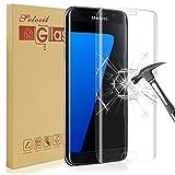 Galaxy S7 Edge Protecteur D'écran,Solocil Samsung Galaxy S7 Edge Verre Trempé 9H dureté Résistant aux rayures Ultra Clair Film Protection Samsung Galaxy S7 Edge
