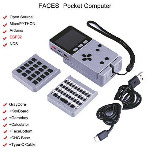 MakerHawk M5Stack ESP32 Open Source Faces Pocket Computer mit Tastatur/Gameboy/Rechner M5Stack Board Eingebaute 650mAh Batterie IoT für MicroPYTHON Arduino