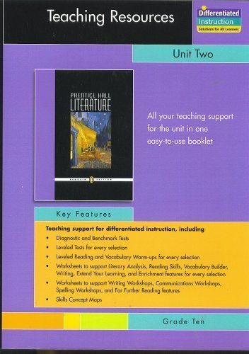 PRENTICE HALL LITERATURE PENGUIN EDITION TEACHING RESOURCES UNIT 2: SHORT STORIES GRADE 10 2007C by PRENTICE HALL (2005-07-01)