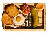 #7: Agnika Creations Handmade Food Fridge Magnet - Miniature Breakfast with Juice