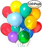 Palloncini,Outgeek 100 Pezzi Palloncini Lattice Palloncini Colorati Decorazioni Feste