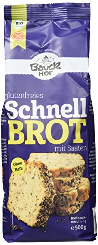 Bauckhof Schnellbrot glutenfrei, 6er Pack (6 x 500 g) -...