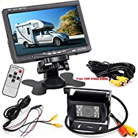 Pantalla HD LCD TFT para coche, de 7 pulgadas, 12-24 V +