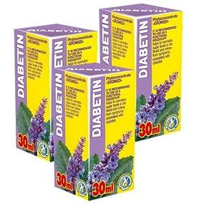 Diabetin Phyto Konzentrat – Pack von 3-21 Tage Kurs – Natürliche Pflanzenextrakte Komplex – Effektive Behandlung – Glykämie – Blutzucker Kontrolle