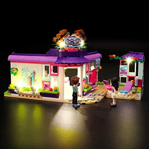 LIGHTAILING Conjunto de Luces (Friends Café del Arte de Emma) Modelo de Construcción de Bloques - Kit de luz LED Compatible con Lego 41336 (NO Incluido en el Modelo)
