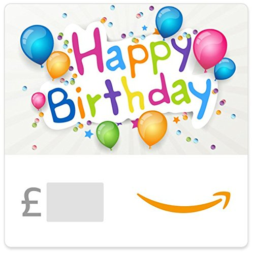 Happy Birthday (Coloured Balloons) - E-mail Amazon.co.uk Gift Voucher Test