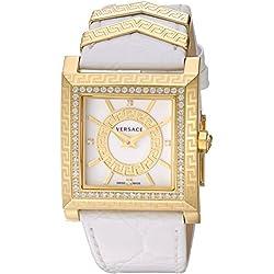 Versace Women's VQF060015 DV-25 Analog Display Swiss Quartz Black Watch