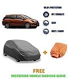 #9: Fabtec Premium Heavy Duty Car Body Cover With Microfiber Glove For Honda Mobilio