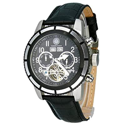 Constantin Durmont Pueblo - Reloj analógico de caballero automático con correa de piel negra - sumergible a 30 metros de Constantin Durmont