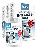 Cunea Reinigungset 60x Entkalkungstabletten & 150x Reinigungstabletten für Kaffeevollautomaten Kaffeemaschinen