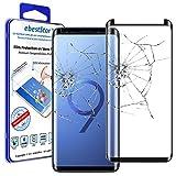 ebestStar - kompatibel Samsung Galaxy S9+ Hülle S9 Plus Panzerglas Schutzfolie Glas, Kurvenformige Displayschutz, Displayschutzfolie, Schwarz [Phone: 158.1 x 73.8 x 8.5mm, 6.2'']