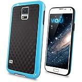 vau Bumper Cuboid - blue - TPU Silikon-Case, Tasche für Samsung Galaxy S5