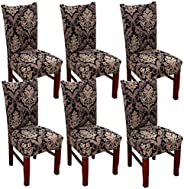 SUBCLUSTER 6 Pcs/Set Soft Stretchable Dining Chair Covers with Printed Floral Patterns,Spandex Banquet Chair S