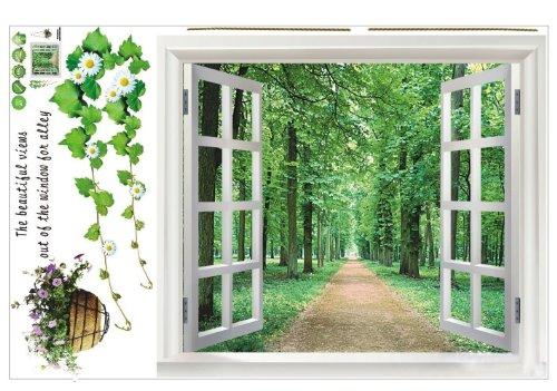 sodialr-pegatina-de-pared-enorme-ventana-3d-vista-verde-flores-plantas-arte-mural