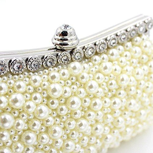 Borsa Da Sera Pearl Diamond Di Alta Qualità Borsa Della Borsa Da Sposa Delle Donne Beige