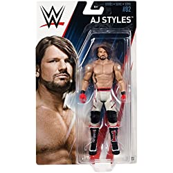 Wrestling WWE AJ Styles Red Gloves The Phenomenal One Mattel Basic Collection Series 82 Action Figure …
