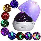 Sterne Projektor,360 Grad Romantische Lampe,Beruhigendes und Entspannendes Einschlaflicht,Nachlicht für Babys, Kinder und Erwachsene
