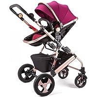 Cochecito Anna Sistema del Recorrido bebé bebé Ultra-Ligero Portátil de Alto Paisaje Puede Sentarse