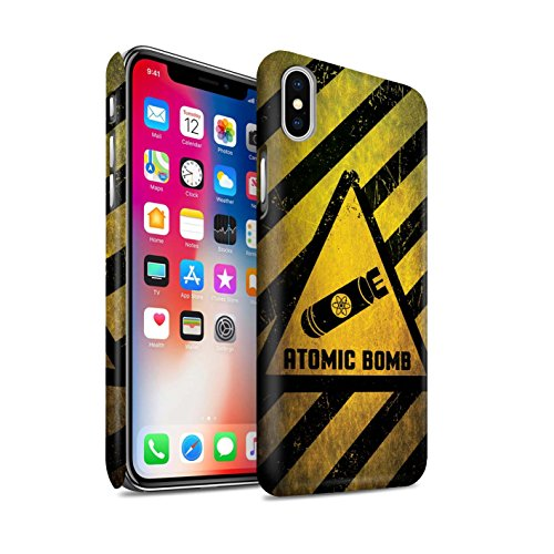 STUFF4 Matte Snap-On Hülle / Case für Apple iPhone X/10 / Tod/Sensenmann Muster / Warnung Zeichen Kollektion Atombombe