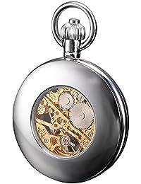 KS Hombre Mujer Reloj De Bolsillo Analógico Mecánico Esqueleto oficial. Collar
