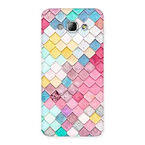 Enticing Rock Pattern Multicolor Back Case Cover for Galaxy A8