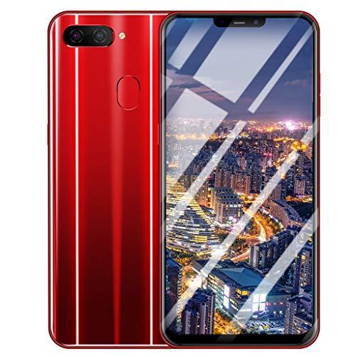 Smartphone Kompatibel mit Android 8.1,Nourich (6,3 Zoll), Dual SIM/Dual Camera Schwarz Blau Rot Global Version Wassertropfen Bildschirm Mobiltelefon Mobile Phone Cellphone Smart Handy (Rot)