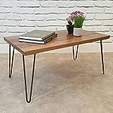 hahaemall Moderne Optik Möbel DIY Home Esstisch Industrie schwarz Metall 2Rod Haarspange Kaffee Tisch Beine Set von vier (30,5cm/30cm), ohne das Holzbrett