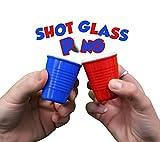 Fairly Odd Novelties Pro Series Shot Pong Set With Hard Plastic Melamine Glasses Cups (FON-10125)