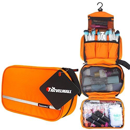 TRAVELMALL-Neceser Impermeable de Nylon Negro,maquillaje cosmetico y multifuncional -Ideal para viaje u camping-Satisfaccion garantizada (Verde claro)