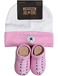 Baby Converse Hat and Booties Set Pink