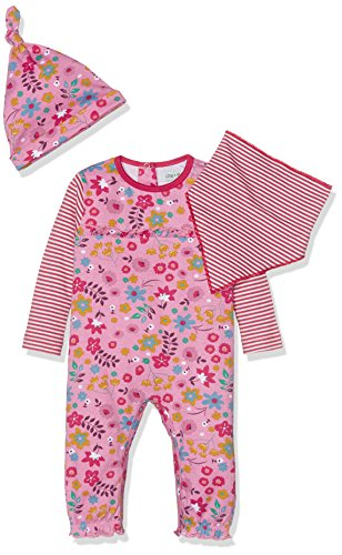 Lilly and Sid Baby-Mädchen Bekleidungsset Girls Gift Set (Playsuit, Bib and Box), Rose, 0- Preisvergleich
