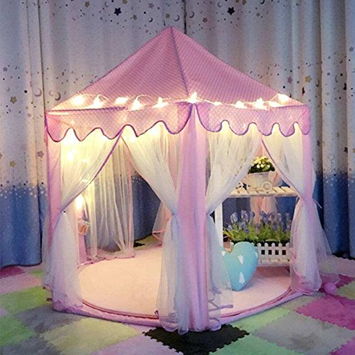 decestar-cute-pink-princess-castle-kids-indoor-playhouse-comes-with-the-light