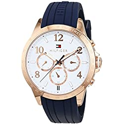 Reloj para mujer Tommy Hilfiger 1781645, mecanismo de cuarzo, diseño con varias esferas, correa de silicona.