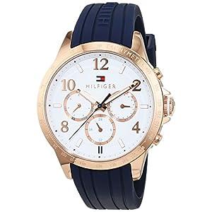 Tommy Hilfiger Damen Analog Quarz Uhr mit Silikon Armband 1781645
