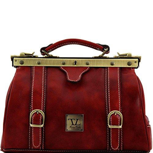 Tuscany Leather - Monalisa - Borsa medico in pelle con fibbie frontali Miele - TL10034/3 Rosso